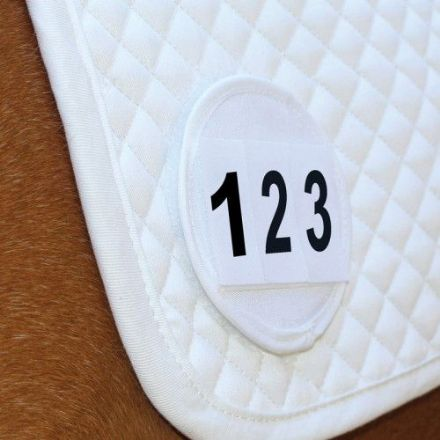 Equetech Saddlecloth Number Pair White